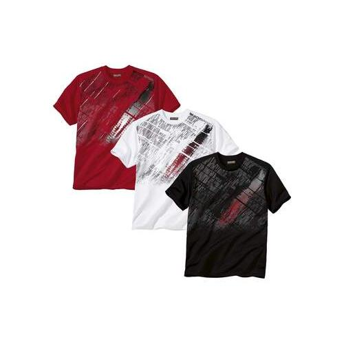 3er-Pack T-Shirts mit grafischem Druck