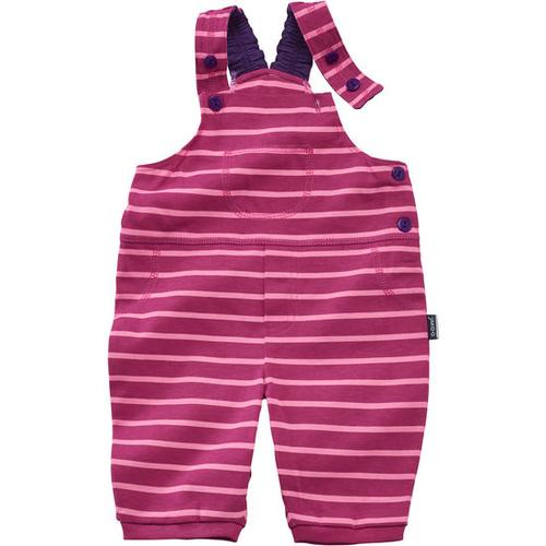 Latzhose 3/4 Ringel, pink, Gr. 92/98