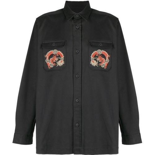 Maharishi Hemd mit Drachenstickerei
