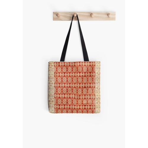 Antikes Mughal Velvet Textile Tasche