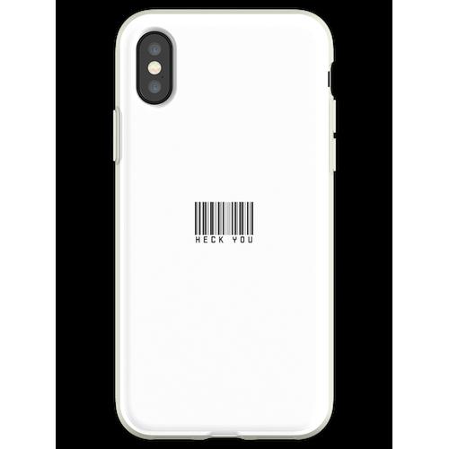 Heck Sie Barcode Trendy Custom Sticker Pack Flexible Hülle für iPhone XS