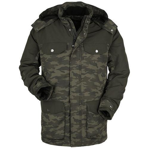Black Premium by EMP oliver Parka mit vielen Taschen und camouflage Muster Herren-Parka - camouflage oliv