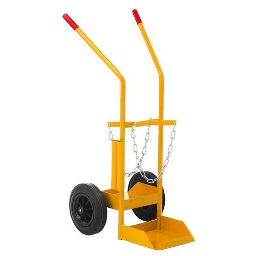 Gasflaschenwagen Gasflaschenkarre 150 kg, Vollgummireifen, gelb