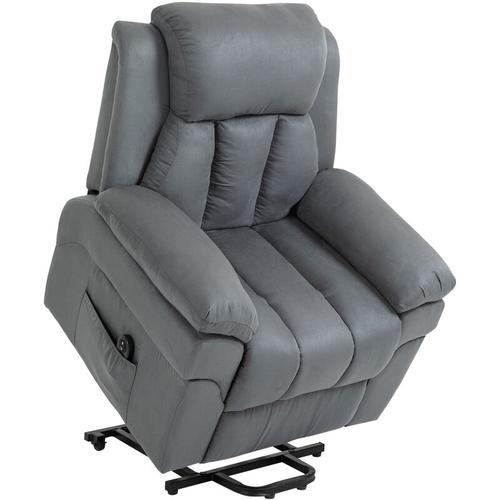 HOMCOM® Elektrischer Aufstehsessel Fernsehsessel Relaxsessel Sessel Aufstehhilfe - grau