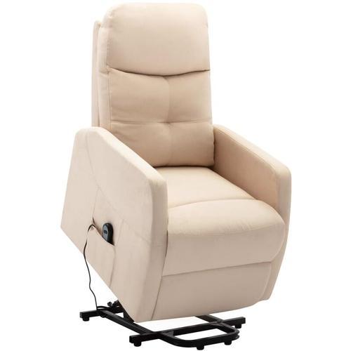 Sessel mit Aufstehhilfe Stoff Creme