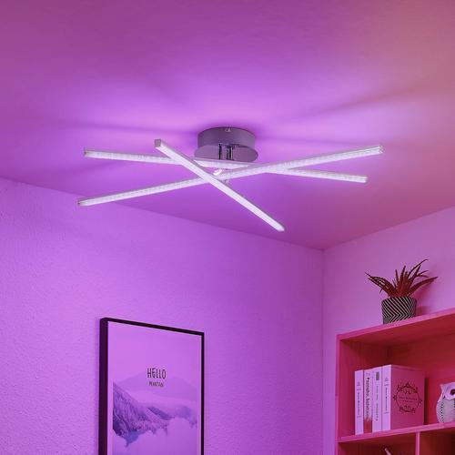 Lindby Neele LED-Deckenleuchte, RGB-Farbwechsel