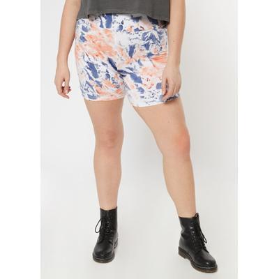 Rue21 Womens Plus Size Peach Tie Dye Bike Shorts - Size 2X
