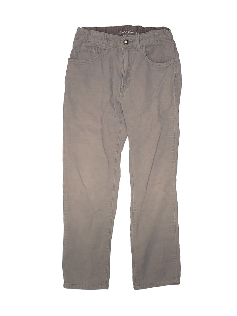 H&M L.O.G.G. Cord Pant: Gray Solid Bottoms - Size 8