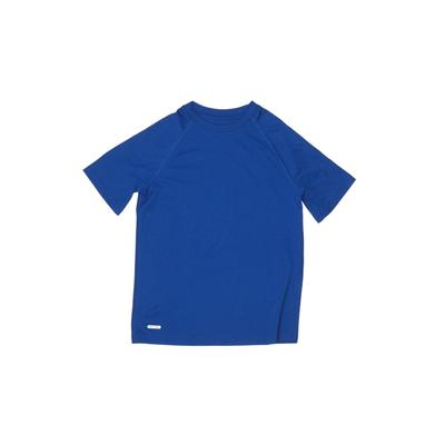 Starter Active T-Shirt: Blue Solid Sporting & Activewear - Size 10