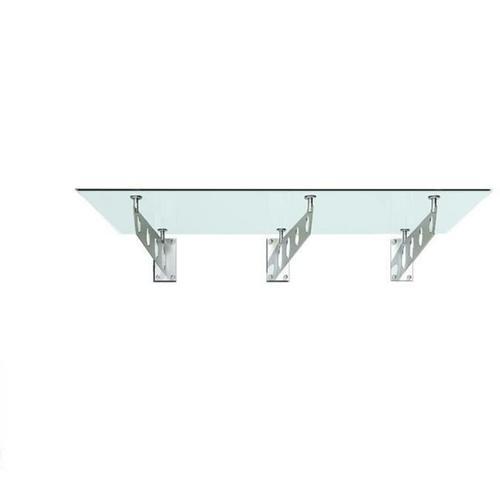 250x90cm Glasvordach - (Typ/3S-FR) - Milchglas - Vordach VSG Türvordach Haustür inkl.