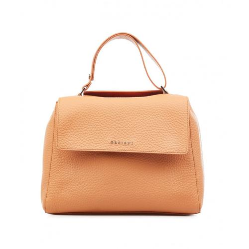 Orciani Damen Handtasche aus Nappaleder Orange
