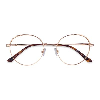 Female's Round Rose Gold Metal Prescription eyeglasses - EyeBuydirect's Cloud