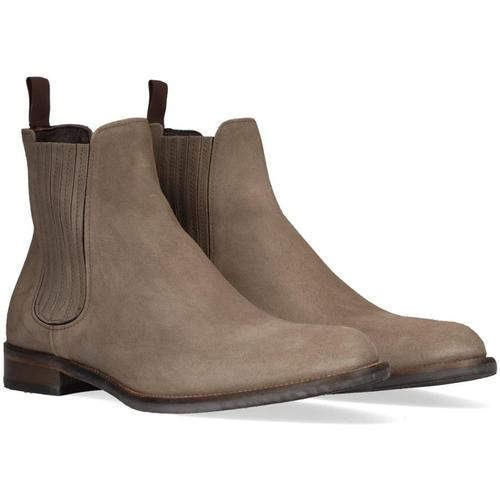 Mazzeltov Taupe Chelsea Boots 4203