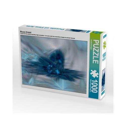 Blaues Kristall Foto-Puzzle Bild von Digital-Art Puzzle
