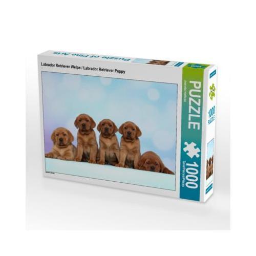 Labrador Retriever Welpe / Labrador Retriever Puppy Foto-Puzzle Bild von Jeanette Hutfluss Puzzle