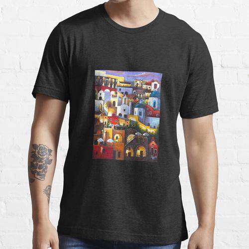Santorini - Santorini in der Nacht Essential T-Shirt