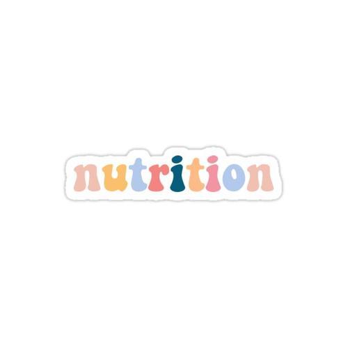 nutrition Sticker