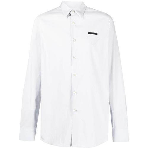 Prada Hemd mit dreieckigem Patch