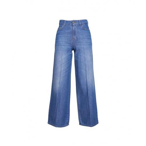 Kaos Damen Wide Leg Jeans Blau