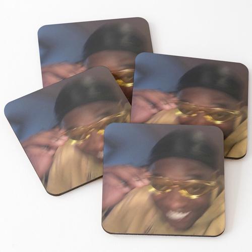 Gelbe Brille Meme Guy Untersetzer