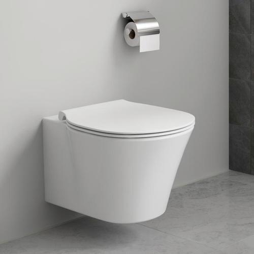 Ideal Standard Tiefspül-WC ProSys mit Connect Air, WC-Element, WC-Sitz und Drückerplatte weiß WC-Becken WC Bad Sanitär