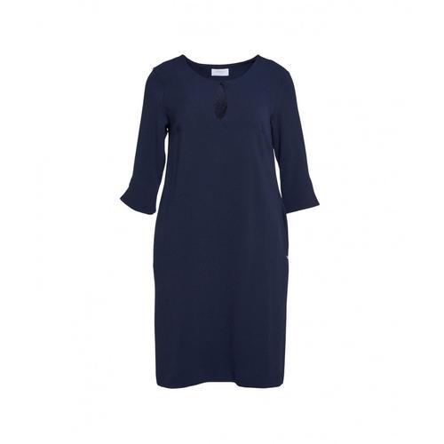 Ottod ame Damen Kleid mit Tropfenauschnitt Blau