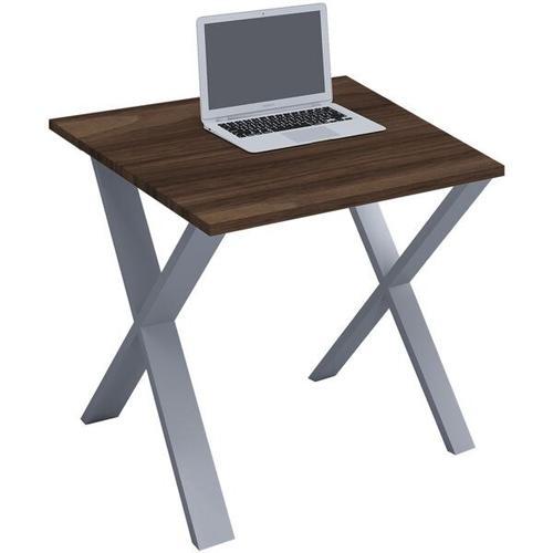 Schreibtisch »Lona« 80/50 cm X-Fuß-Gestell silbern silber, VCM, 80x76x50 cm