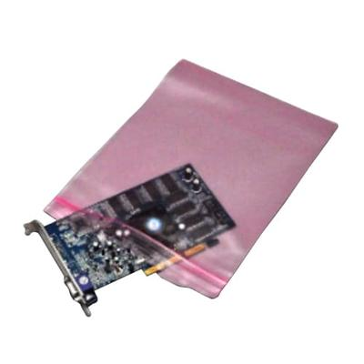 """LK Packaging FASST41014 Resealable Anti Static Bag for Electronic Components - 10"""" x 14"""", LDPE, Pink"""