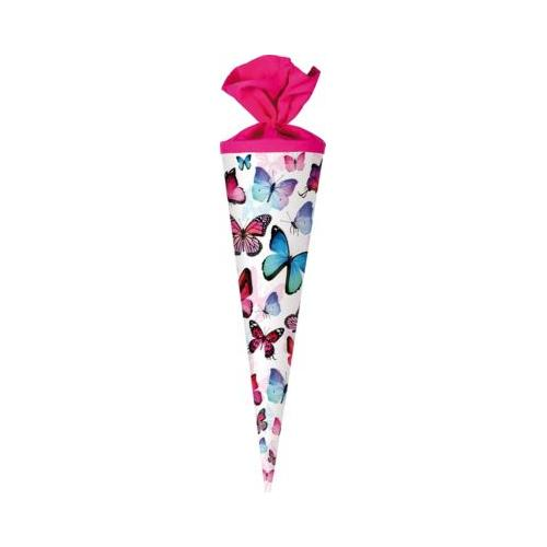 Schultüten-Set Schmetterling, 4-tlg. pink/weiß