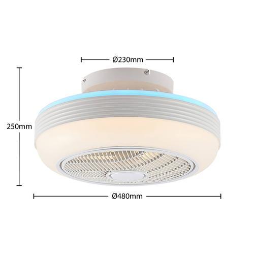 Lindby Thyron LED-Deckenventilator, weiß