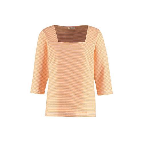 Deerberg Damen Jersey-Shirt Agna aprikose-cremeweiß