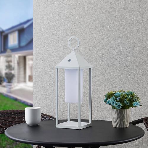 Lucande Miluma LED-Außenlaterne, 54 cm, weiß