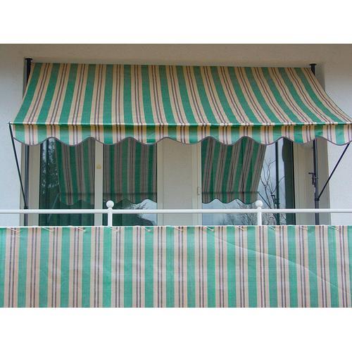 Angerer Freizeitmöbel Balkonsichtschutz Nr. 1900, Meterware, grün/beige/braun, H: 90 cm grün Markisen Garten Balkon