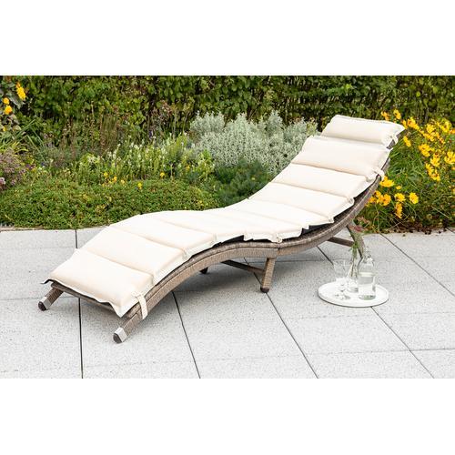 MERXX Gartenliege Waikiki, Stahl, klappbar, inkl. Auflage grau Gartenliegen Garten, Terrasse Balkon