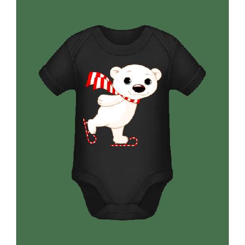 Schlittschuh Eisbär - Baby Bio Strampler