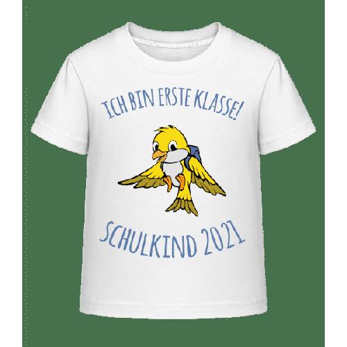 Kleiner Vogel Mit Schulranzen 2021 - Kinder Shirtinator T-Shirt