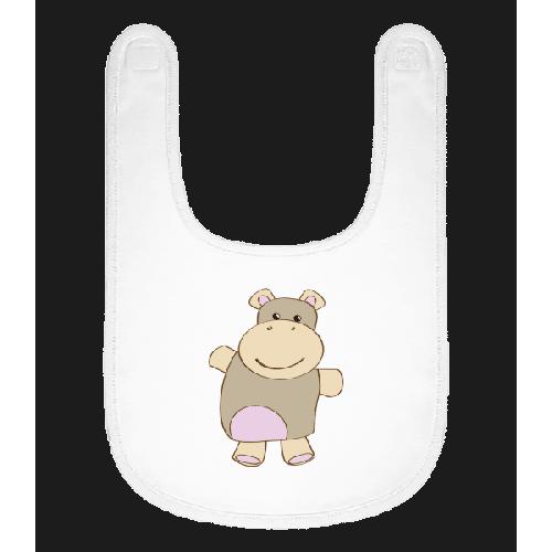 Baby Comic - Nilpferd - Baby Lätzchen