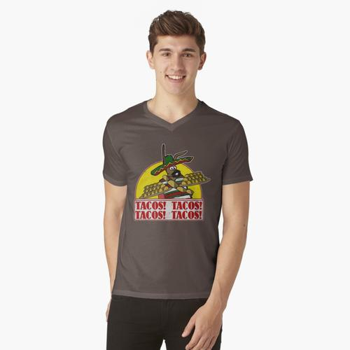 Tacos Tacos Tacos Tacos t-shirt:vneck