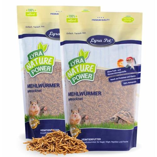 2 x 5 kg ® Mehlwürmer getrocknet - Lyra Pet