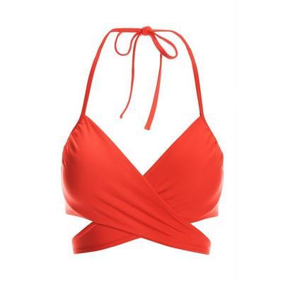 Boston Proper - Swim Sense Underwire Wrap Bikini Top - Scarlet - Small