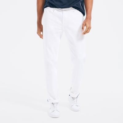 Nautica Men's Straight Fit Denim Bright White, 42x30