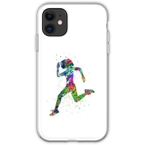Laufende Frau, Jogger, Sport joggen Flexible Hülle für iPhone 11