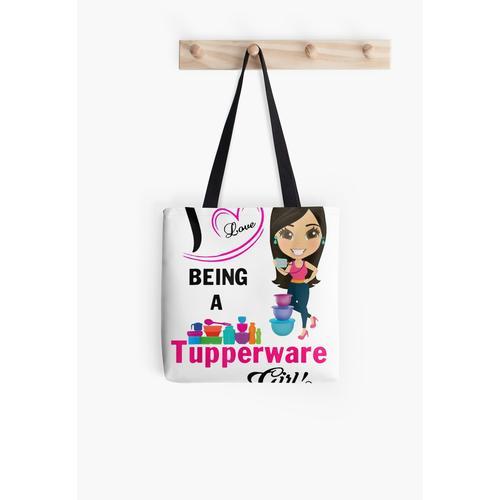 Ich liebe es, ein Tupperware Girl T-Shirt zu sein Tasche