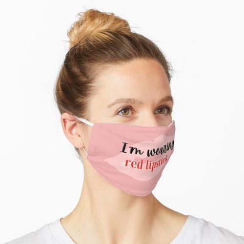 Ich trage roten Lippenstift Maske