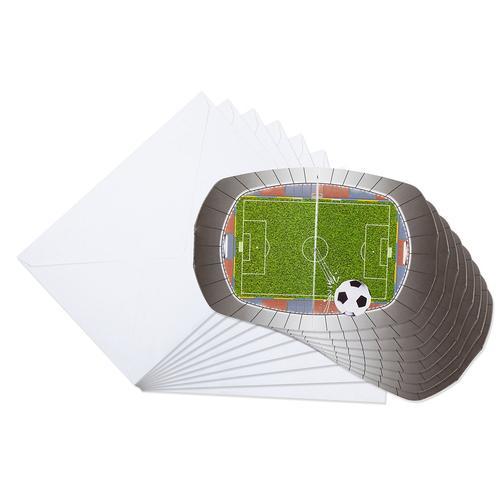 Einladung Fußball, 8 Stück