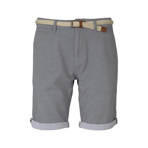 TOM TAILOR DENIM Herren Chino Shorts mit Gürtel , grau, Gr.XS