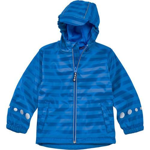 Regenjacke Ringel, blau, Gr. 116/122