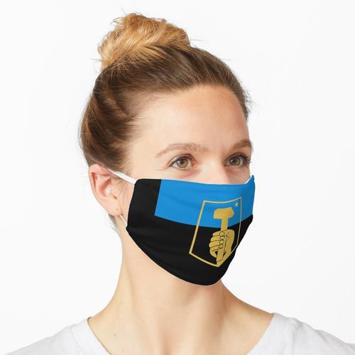 Flagge von Donezk, Ukraine Maske