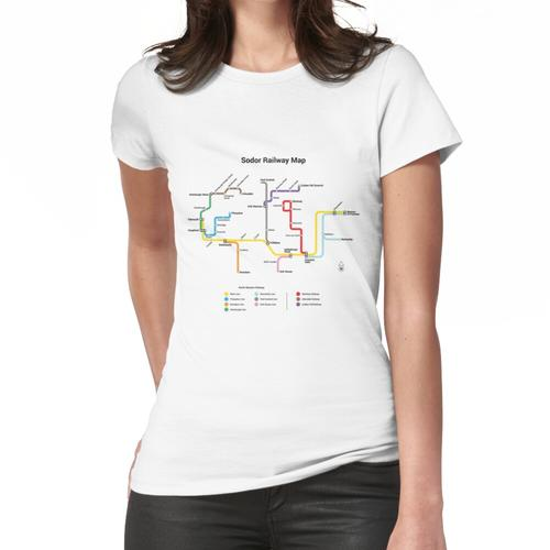 Sodor Eisenbahnkarte - TTC Style, Light Frauen T-Shirt