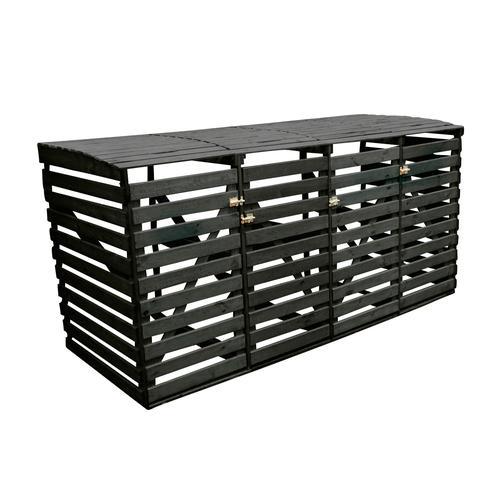 promadino Mülltonnenbox, für 4x240 l aus Holz, BxTxH: 268x92x122 cm grau Mülltonnenbox Mülltonnenboxen Garten Balkon